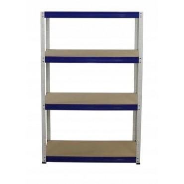 Helios Color 180x100x40 4p 275kg na półkę / Kolor: Biało-Niebieski