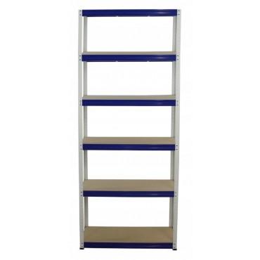 Helios Color 196x90x45 6p 350kg na półkę / Kolor: Biało-Niebieski