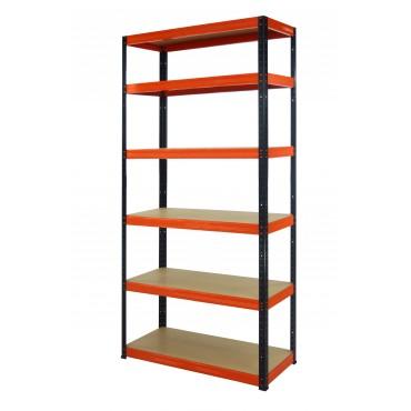 Helios Color 196x120x45 6p 400kg na półkę / Kolor: Czarno-Pomarańczowy