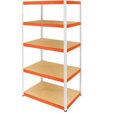 Helios Color 180x100x60 5p 175kg na półkę / Kolor: Biało-Pomarańczowy