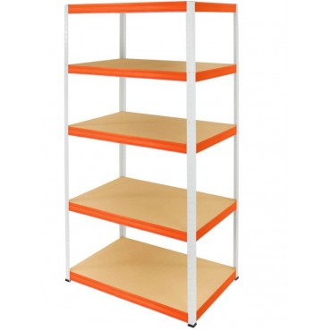 Helios Color 213x75x35 5p 175kg na półkę / Kolor: Biało-Pomarańczowy