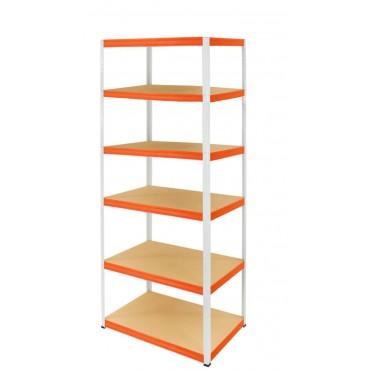 Helios Color 213x75x50 6p 275kg na półkę / Kolor: Biało-Pomarańczowy