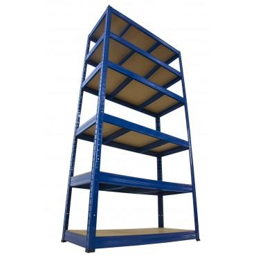 Helios Color 196x90x40 6p 275kg na półkę / Kolor: Niebiesko-Niebieski
