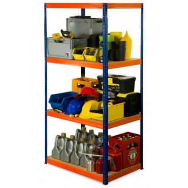 Helios Color 180x75x35 4p 275kg na półkę / Kolor: Niebiesko-Pomarańczowy