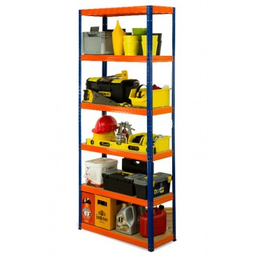 Helios Color 213x90x40 6p 350kg na półkę / Kolor: Niebiesko-Pomarańczowy