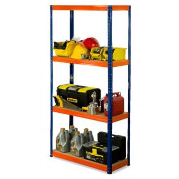 Helios Color 180x90x60 4p 400kg na półkę / Kolor: Niebiesko-Pomarańczowy