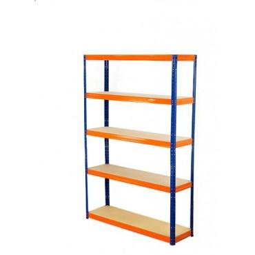 Helios Color 196x75x50 5p 400kg na półkę / Kolor: Niebiesko-Pomarańczowy
