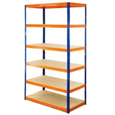 Helios Color 213x110x45 6p 400kg na półkę / Kolor: Niebiesko-Pomarańczowy
