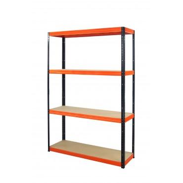 Helios Color 180x090x35 4p 275kg na półkę / Kolor: Czarno-Pomarańczowy