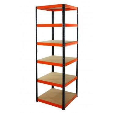 Helios Color 213x60x60 6p 175kg na półkę / Kolor: Czarno-Pomarańczowy
