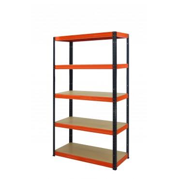 Helios Color 196x120x60 5p 275kg na półkę / Kolor: Czarno-Pomarańczowy