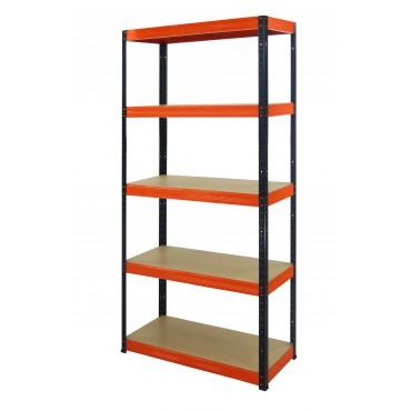 Helios Color 213x090x40 5p 275kg na półkę / Kolor: Czarno-Pomarańczowy