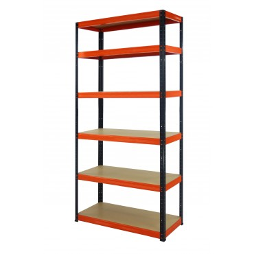 Helios Color 213x075x45 6p 275kg na półkę / Kolor: Czarno-Pomarańczowy